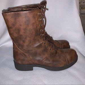Brash Moto Boots, Vintage Brown, sz 9